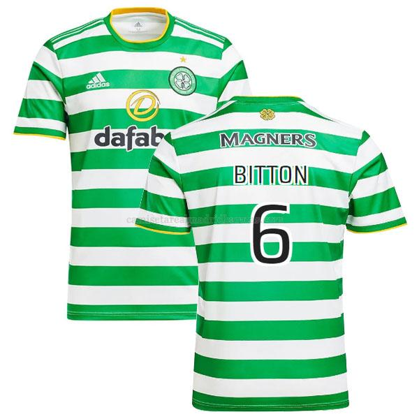 camiseta bitton del celtic del primera 2020-2021