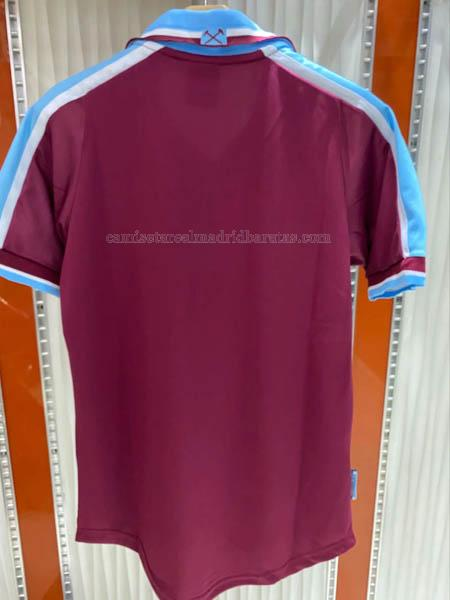 camiseta retro del west ham united del primera 1999-2000